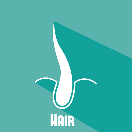Hair loss and hair icon