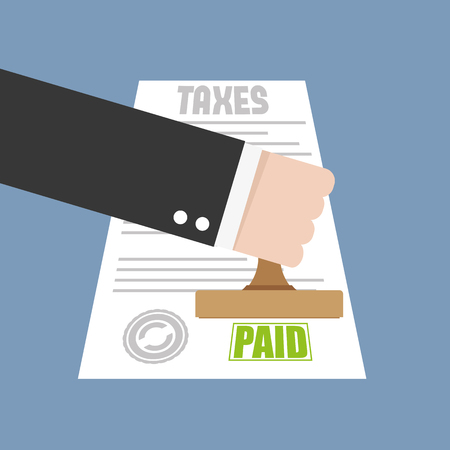 paid: Taxes paid. Flat icon