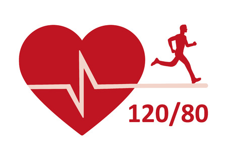cardio: Cardio metabolic logo or icon Illustration