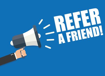 Refer a Friend Stock Illustratie