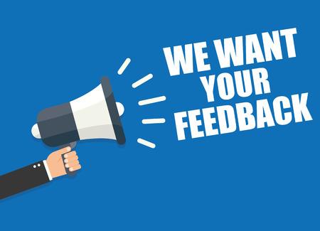 Wij willen uw feedback Stock Illustratie