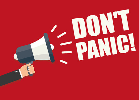 panic: Dont Panic Illustration