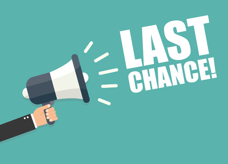 Last Chance Stock Illustratie
