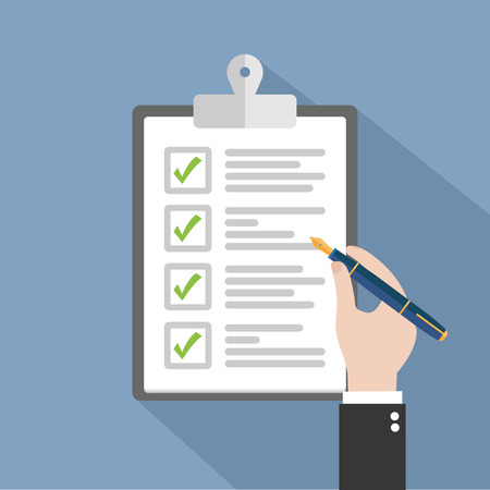 schedules: Checklist clipboard
