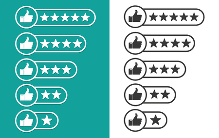 critique: Consumer rating flat icon