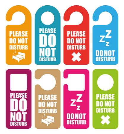 door hanger: Do not disturb door hanger Illustration