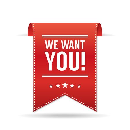 recruit: We want you Illustration