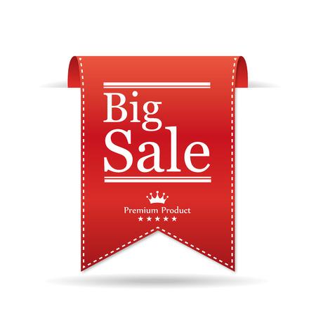 stitched: Banner Big Sale. Vector illustration