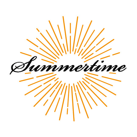 Summertime lettering typography poster
