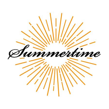summertime: Summertime lettering typography poster