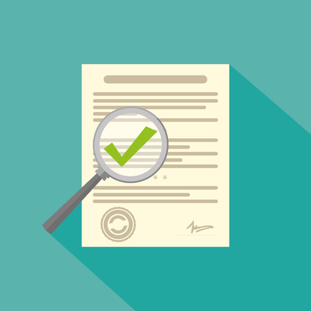 questioning: Survey checklist icon or contract Illustration