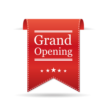 grand sale sticker: Banner Grand Opening. Vector