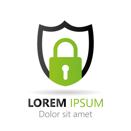 secure: Secure abstract icon Illustration