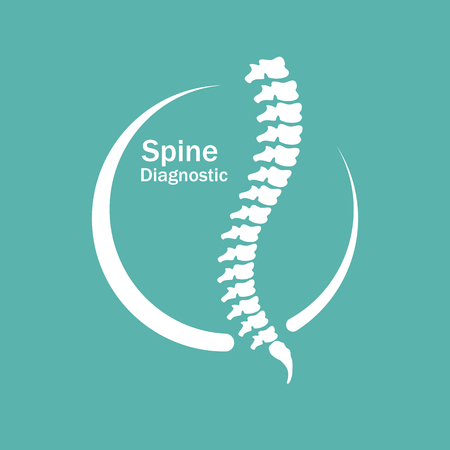 scoliosis: Human spine.