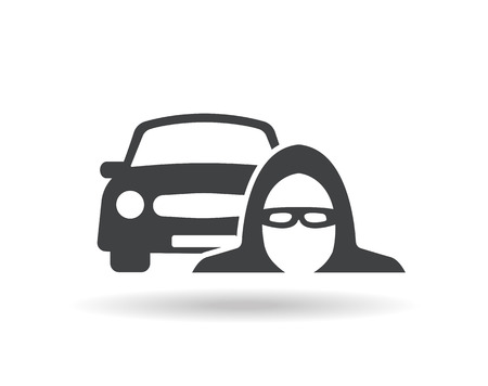robo de autos: Icono ladrón de coches
