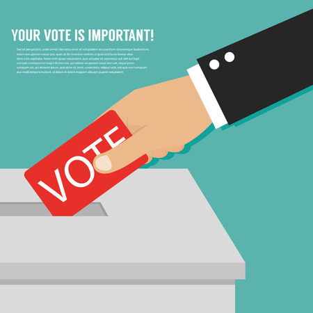 voting: Hand putting voting