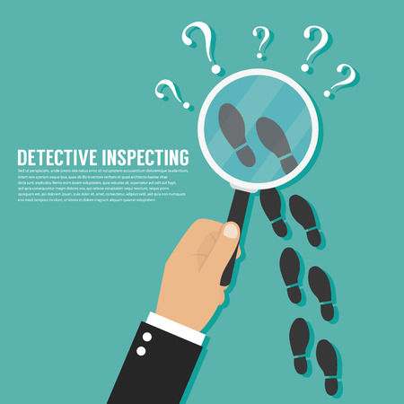 crime solving: Detective inspecting