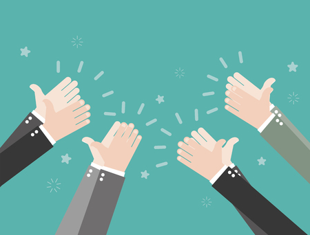 Human hands clapping Illustration