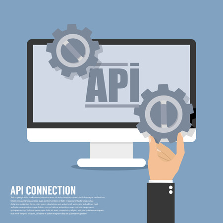 decode: API Icon Api Connection in flat style isolated on grey background. World globe symbol for your website design, logo, app, UI, Vector illustration, EPS10