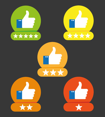 criticism: Consumer rating flat icon