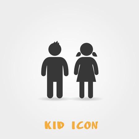 Dziewczyna i chłopak ikonę na białym tle