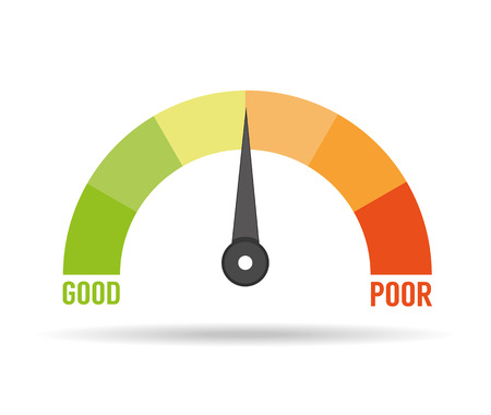 Kredit-Score Vektorgrafik