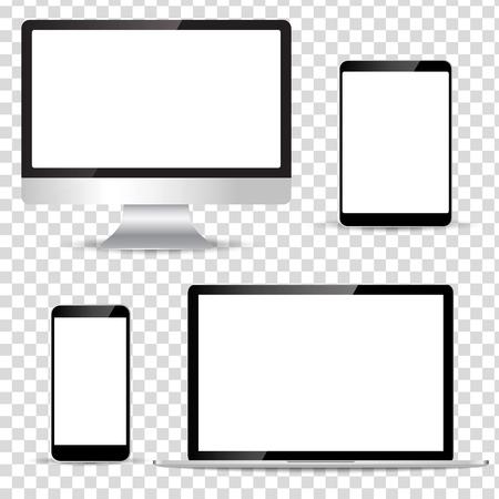 electronic tablet: Modern technology device Illustration
