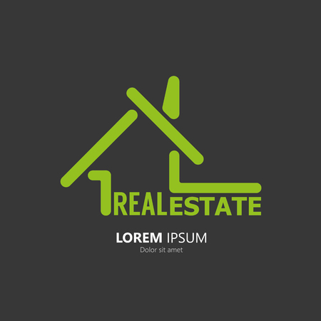 housing estate: House symbol. Real Estate Logo Illustration
