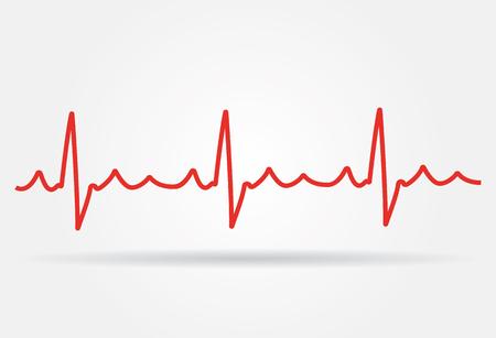 electrocardiograma: Cardiograma blanco de los golpes de corazón