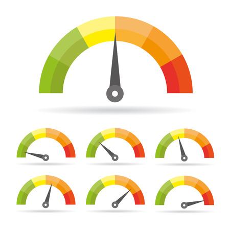 Ikona prędkościomierza. Kolorowa grafika informacyjna Ilustracje wektorowe