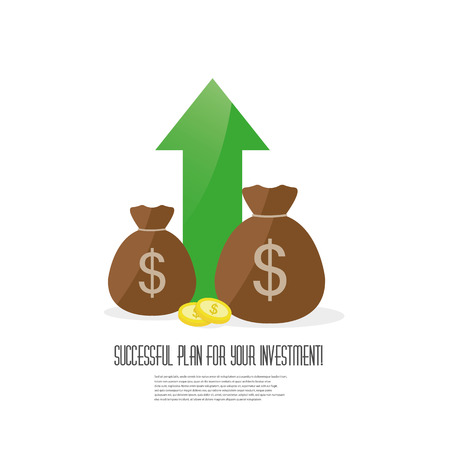Financial investments. Management, Savings account, Banking vector icon