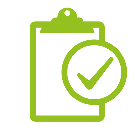 inspected: Compliance inspection on white background, vector illustration.