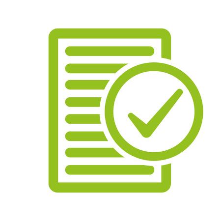 Compliance inspection approved vector illustration. Ilustração