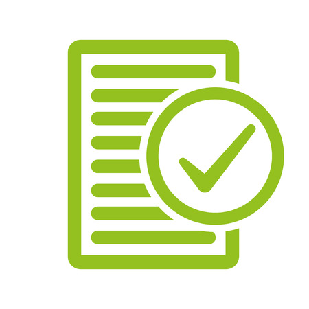 inspected: Compliance inspection approved vector illustration. Illustration