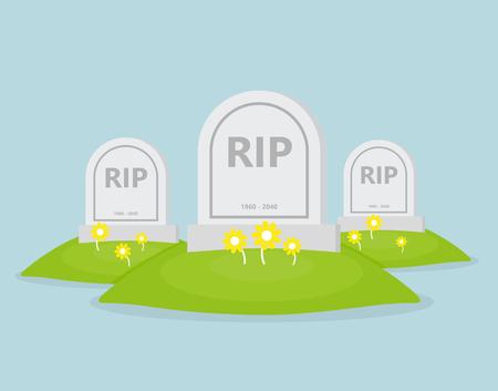 Płaskie ikona grobu
