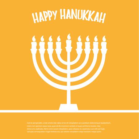 Happy Hanukkah. Hanukkah Menorah icon.