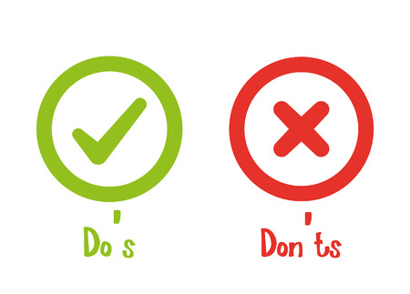 Do's and Don'ts with Tick and Cross