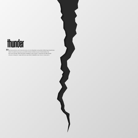 rift or thunder vector illustration