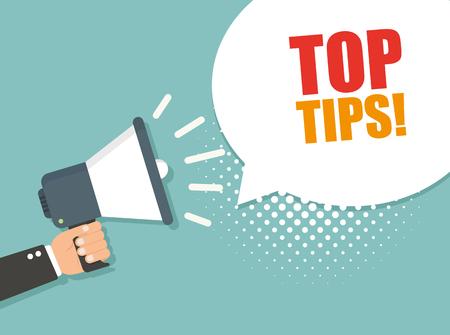 Top tips. Vector illustration