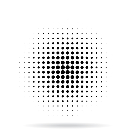 Halftone dots radial