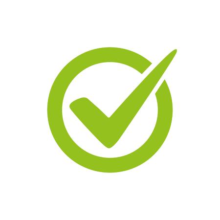 Häkchen Logo Vektor oder Symbol. T Genehmigung oder Cheeklist Design Logo