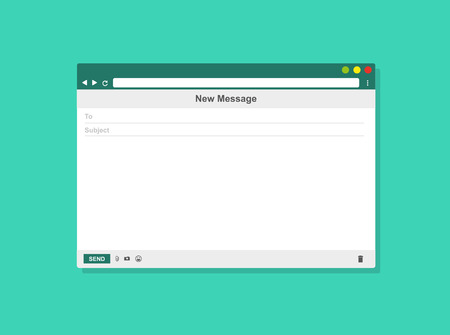 E-mail blank template internet mail frame, Vector illustration