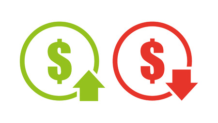 Icona di riduzione dei costi