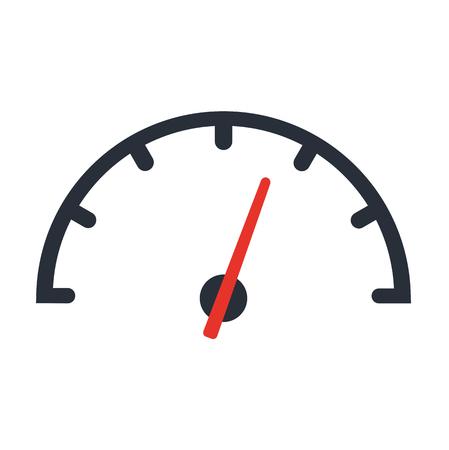 The tachometer, speedometer and indicator icon