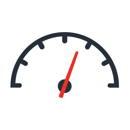 The tachometer, speedometer and indicator icon