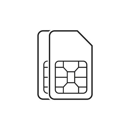 Dual SIM icon sign. Vector icon
