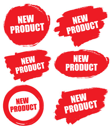 New product rubber stamp vector illustration