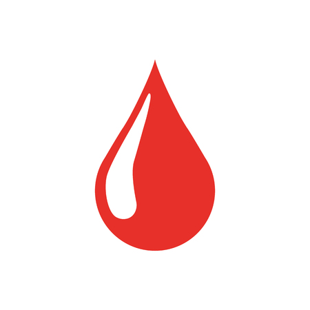 Blood drop icon, vector illustration.