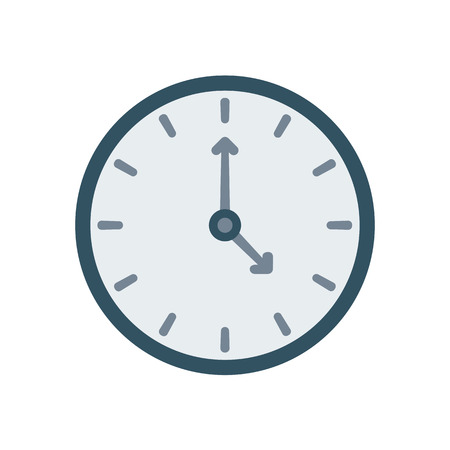 Clock Icon on background. Time symbol. Vector illustration