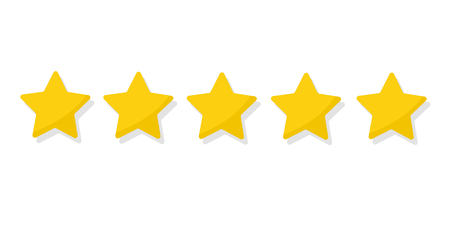 Rating golden stars Ilustrace